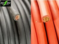 1/0 AWG WELDING BATTERY CABLE WIRE RED BLACK SAE J1127 COPPER CAR SOLAR LEADS