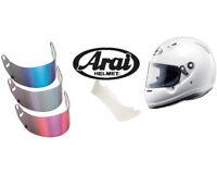 Arai CK-6 Go Kart Casco Racing Copertura Bianco Snell K2015 Approved Karting