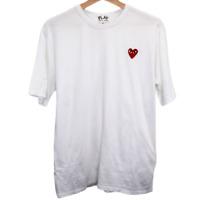 G116 Comme Des Garcons Play Hearts Logo Tee Shirt Men's Made in Japan Medium