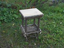 "Twig Furniture,Log Furniture,Rustic Cedar,Log End Table, 15"" x 13"" x 24"""