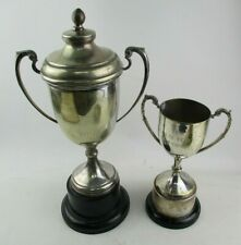 Two Vintage Silver Plated Trophy Cups