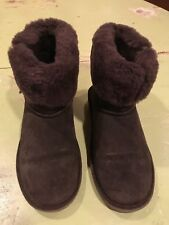 Great BearPaw Brown Suede Abbie Low Boots Size 7
