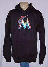 Miami Marlins Primary Logo Hoodie Sweatshirt Black - MLB