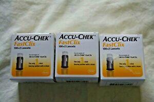 3 Boxes - ACCU-CHEK FastClix 100+2 Lancets  Exp. 9/2022