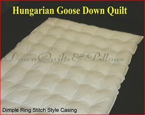 SUPER KING SIZE QUILT - DIMPLE RING STITCHED - 95% HUNGARIAN GOOSE DOWN- 1 BLK