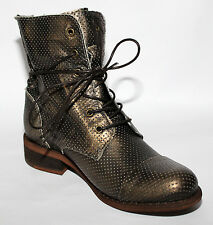 BOTTINES PRINTEMPS ETE CUIR BLACK GOLD CHAUSSURES MODE FEMME T 39 NEUVES
