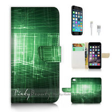 ( For iPhone 7 Plus ) Wallet Case Cover P2889 Abstract Matrix
