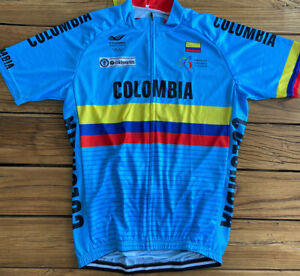 """COLOMBIA TRICOLOR BLUE TEAM CYCLING JERSEY XL 42"""" NEW FREE SHIPPING !!"""