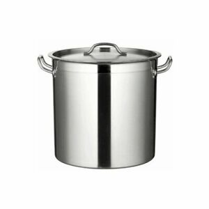40cm/45L Stock Pot Commercial Kitchen Cookware 18/10 Stainless Steel Heavy Duty