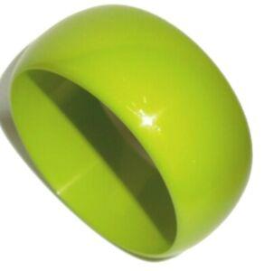 Sobral Sortidos Unico PB34 Chartreuse Green Artist Made Bangle Bracelet