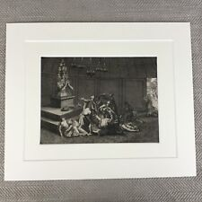 Rare 18th Century Engraving Picart Moubach Deity Idol Worship Manipa God