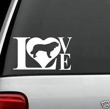 B1100 Saint Bernard LOVE DOG Decal Sticker for Car Truck SUV Van LAPTOP Puppy