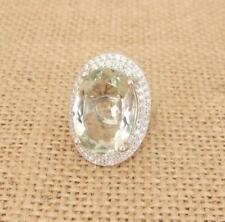 Anelli di lusso con gemme verde in argento sterling pietra principale ametista