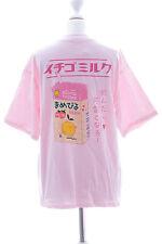 Tp-113 Milk STRAWBERRY FRAGOLA soia tetra Rosa T-shirt PASTEL goth harajuku
