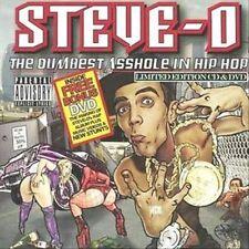 The Dumbest Asshole in Hip Hop [Bonus DVD] [PA] by Steve-O (NEW CD/DVD)