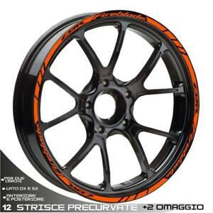 Profile Aufkleber Rad Sport Orange für Honda 1000 CBR RR Fireblade 2004-2019