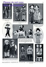 All kinds of dolls XL 1924 page with 9 photo illustration Steiff Kathe Kruse +