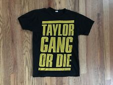 Wiz Khalifa Black And Yellow Taylor Gang Or Die Graphic Tee T-shirt Size Mens S