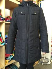 Street One Winterjacke Jacke Mantel Gr 36 Schwarz Warm Wattiert mit Kapuze 1A