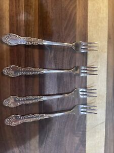 """National Stainless NANCY 8 Cocktail Forks  Stainless 5 3/4"""" Japan Flatware"""