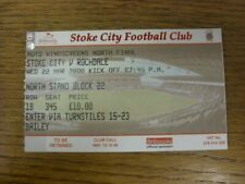 22/03/2000 Ticket: Football League [Auto Windscreen Shield] Area Final, Stoke Ci