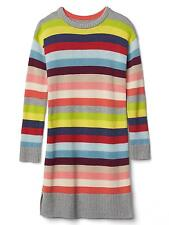 GAP Kids Girls Crazy Multi Stripe Sweater Dress S 6 7 NWT $58 Long Sleeves