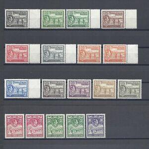 TURKS & CAICOS ISLANDS 1938-45 SG 194/200 + Shades MNH Cat £260
