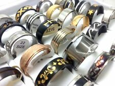 20Pcs Mens Bigger Size 21 22 23 24 mm Stainless steel Rings Jewelry wholesale