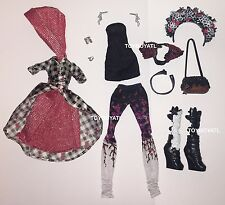Ever After High Spring Unsprung Cerise Hood Doll Outfit Clothes Dress Shoes NEW
