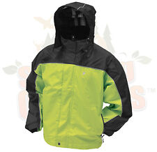 XL Frogg Toggs Hi-Vis Green & Black  HWY Toadz Motorcycle Reflective Rain Jacket
