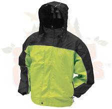 XL Frogg Toggs Hi-Vis Green & Black  HWY Toadz Motorcycle Reflective Rain Jacket
