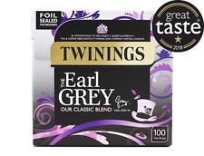 2 Scatole Twinings Earl Grey 100 Bustine Tè Anti Bustine Nuovo Confezione