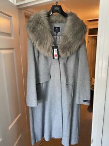 M&S Brand New Grey Cashmere Coat size 18