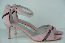 NEW Calvin Klein Kaitlyn Womens 10 Pink Suede Leather Ankle Strap Kitten Heels