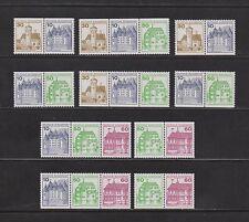 Briefmarken-Zusammendrucke aus der BRD (ab 1945) mit Bauwerks-Motiv