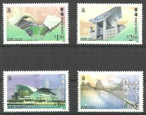 Hong Kong - Eröffnung der Lantau-Brücke Satz postfrisch 1997 Mi. 815-818