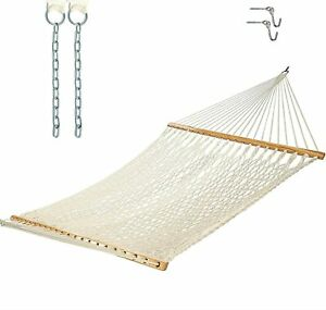 Castaway Living 13 ft. Traditional Cotton Rope Hammock with Hanging Hardware