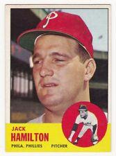 JACK HAMILTON 1963 Topps Baseball  # 132 Philadelphia Phillies Ex Plus