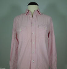 VINTAGE RED Light Pink Button Down Collared Shirt Men's size S