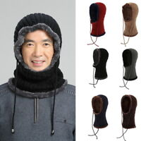 1X Men Women Knit Hat + Scarf Winter Wool Plus Velvet Thick Warm Cap Scarf GIFT