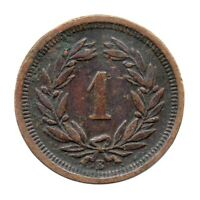 KM# 3.1 - 1 Rappen - Switzerland 1887 B (Fair)