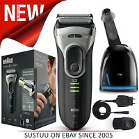 Braun Series 3 3090cc Men Electric Foil Face Shaver + Clean Renew Charge Station