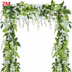 Kunstblumen Künstliche Girlande  Efeugirlande Hängende Pflanzen Hochzeit Deko