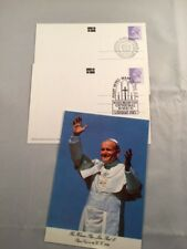2 x 1982 Papal Visit Postcards by John Hinde, Ireland SHS Arrival & First Mass