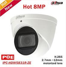 Dahua H.265 8MP WDR IR50 IP POE IP67 Mic 2.7~12mm Camera IPC-HDW5831R-ZE ICR
