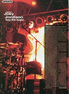 2004 Print Article of Joey Jordison Slipknot Recording at the Houdini House