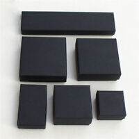 Black Paper Package Case Ring Necklace Earrings Bracelet Jewelry Gift Box DecorS