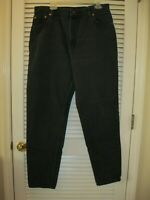 Levi's 551 Black Jeans Size 18 Long High Waist Mom Jeans Relaxed Tapered Vtg USA