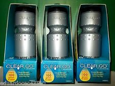Lot of 3 Clear 2 Go BPA Free Water Bottle USA NASA Filter 100 gallon filtration
