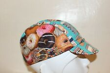 CYCLING CAP COFFE  & DONUTS  100% COTTON HANDMADE IN USA M L